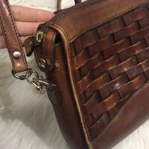 Bags - Vintage Woven Leather Purse